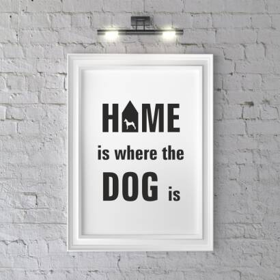 Plakat Home is where the dog is