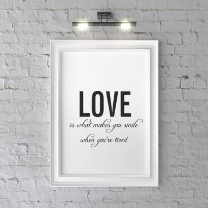 Plakat Love is what makes you smile