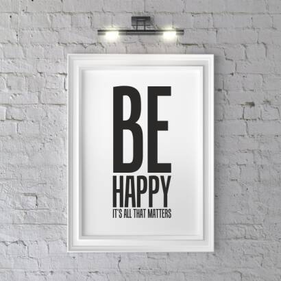 Plakat Be happy