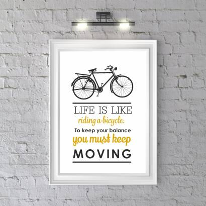 Plakat Life is like riding a bicycle