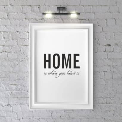 Plakat Home is where your heart is