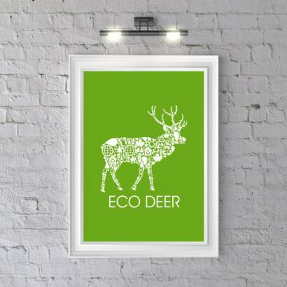 Plakat ECO DEER