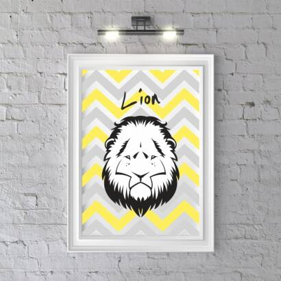 Plakat Head LION