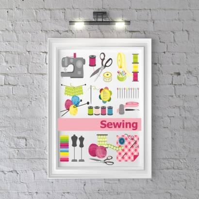 Plakat Sewing