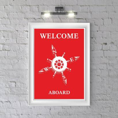 Plakat Welcome Aboard A
