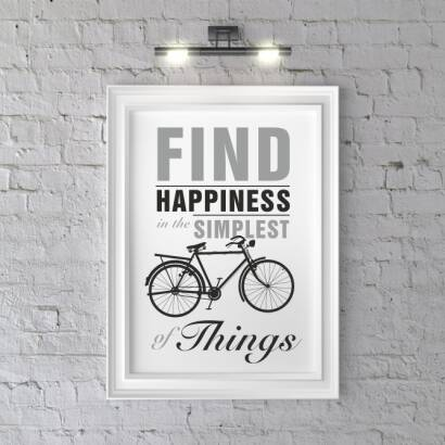 Plakat Find happiness