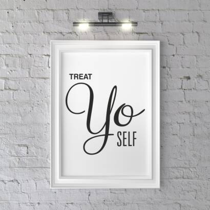 Plakat Treat yo self